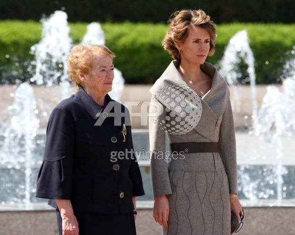 Giorgio Napolitano and his wife Clio in Damascus - first ...