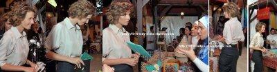 """Première visite Dame Asma Assad Bazaar """"Tous Ramadan"""""""
