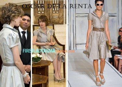 first lady asma assad - Oscar de la Renta