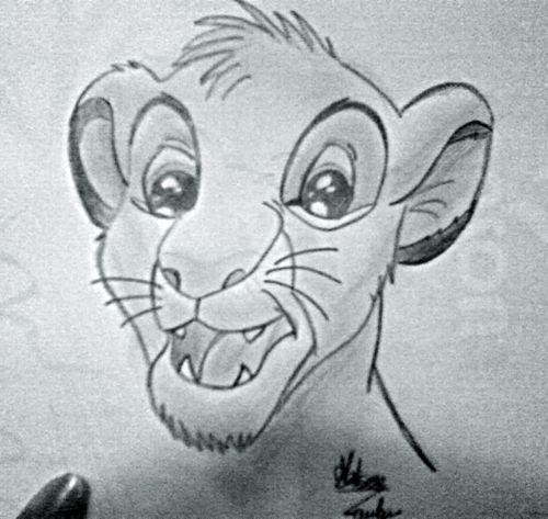 Le roi lion metisse laulau - Dessin simba roi lion ...