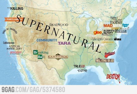 TV-show-map of the USA