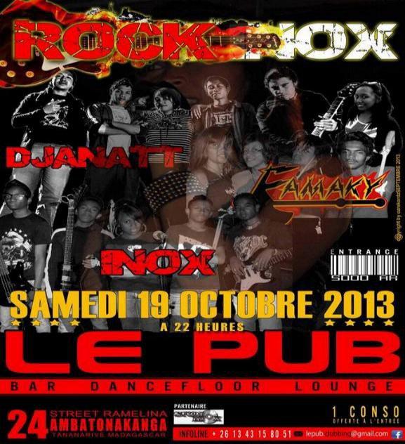 CONCERT ROCK INOX A TANA AU PUB LE 19 OCT 2013