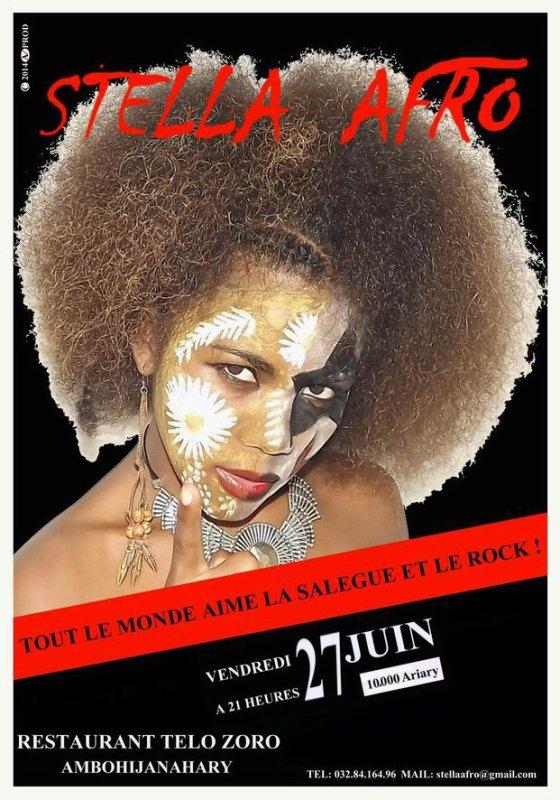 STELLA  AFRO prochain cabaret a Tananarive