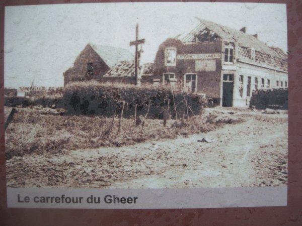 Le carrefour du Gheer : lieu stratégique en 1914