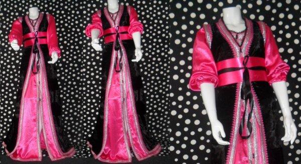 tres belle takchita noire et fushia