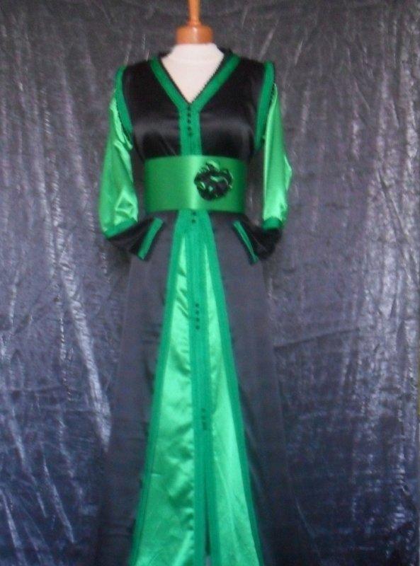 takchita noire et vert