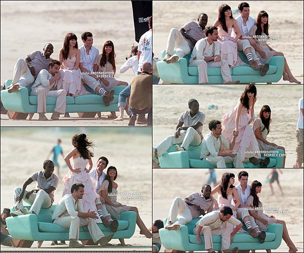 .15/04/2012 - Le cast de NG sur le set d'un nouveau photoshoot, le 11 avril. Le photoshoot est génial ! Zooey est un peu plus présente dessus, évidemment. Les robe des deux filles sont superbes. Hannah est splendide au naturel.