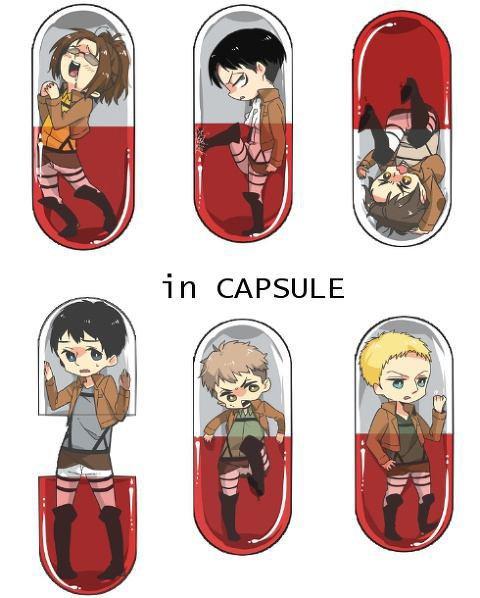 Dans une capsule..
