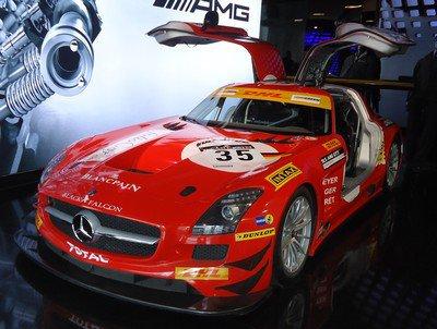 Mercedes SLS AMG racecar