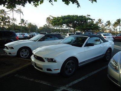 Tour du monde: 13, Honolulu, Ford Mustang de loc'