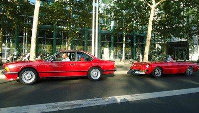 Alfa Spider et BMW 635