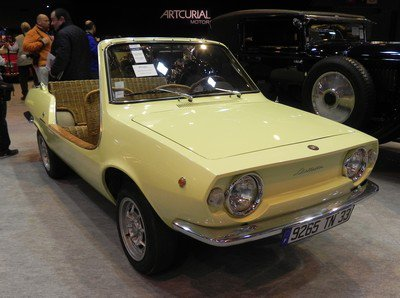 Rétromobile 2014 : 17. Fiat 850 Moretti
