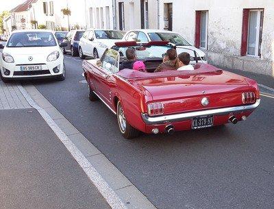 La Mustang bloquée