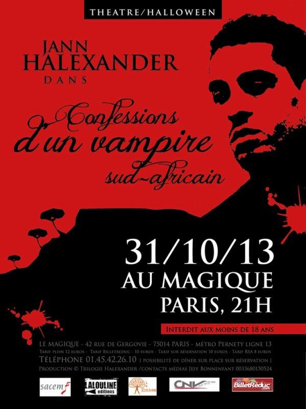 31/10/2013 : THEATRE CONFESSIONS D'UN VAMPIRE SUD-AFRICAIN