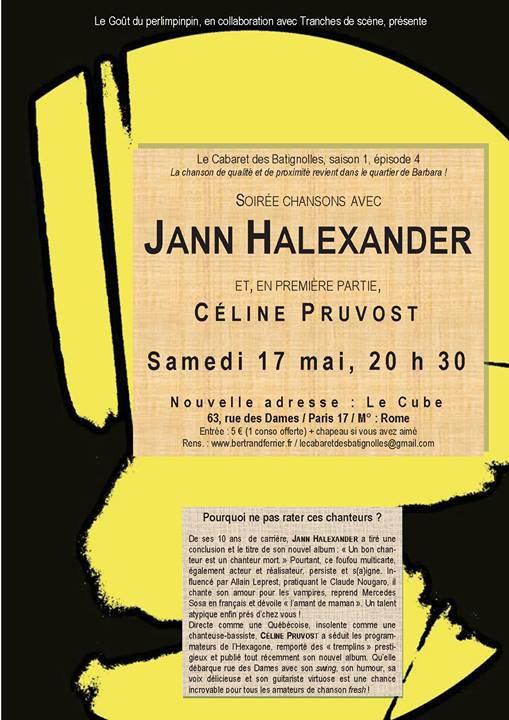 17 mai - Jann Halexander - CABARET DES BATIGNOLLES - PARIS
