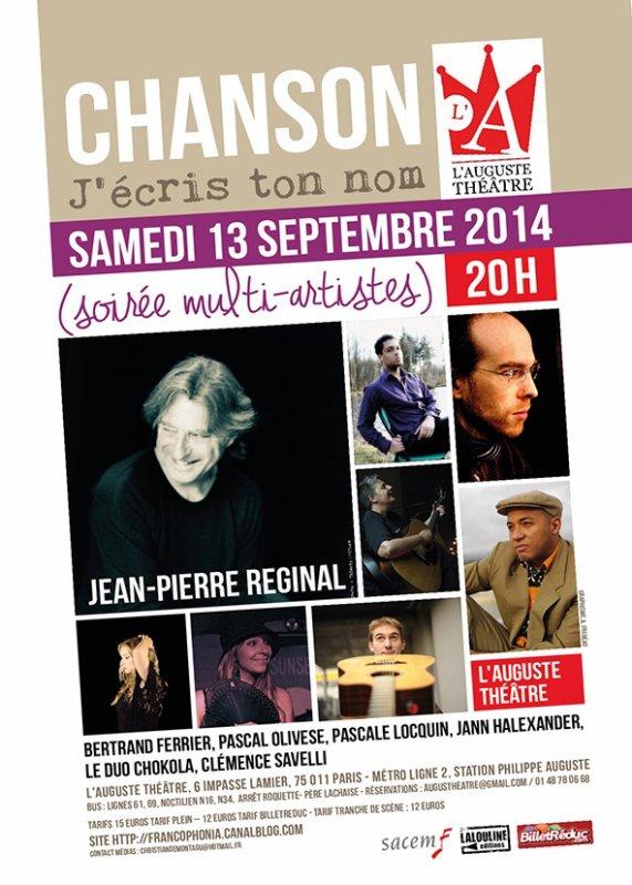 Soirée 'Chanson j'écris ton nom' 13 septembre 2014 - PARIS