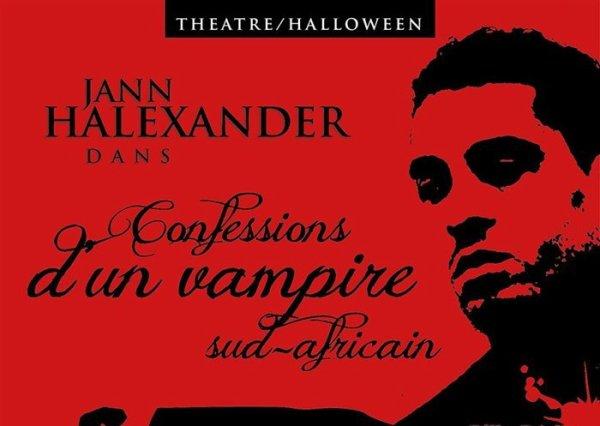 Info Théâtre 'Confessions d'un Vampire Sud-Africain' - Tournée Halloween 30/31 octobre/1er novembre en France