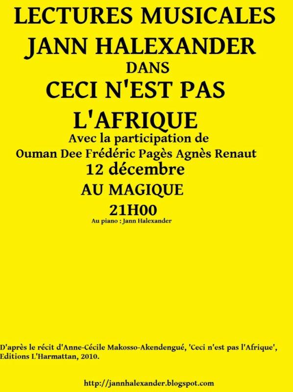 Dernier spectacle de Jann Halexander - 12 décembre / Paris
