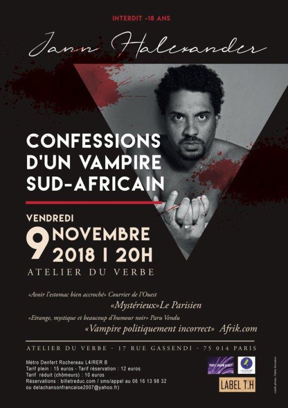 Le 9 novembre, Jann Halexander sera le Vampire Pretorius Malan