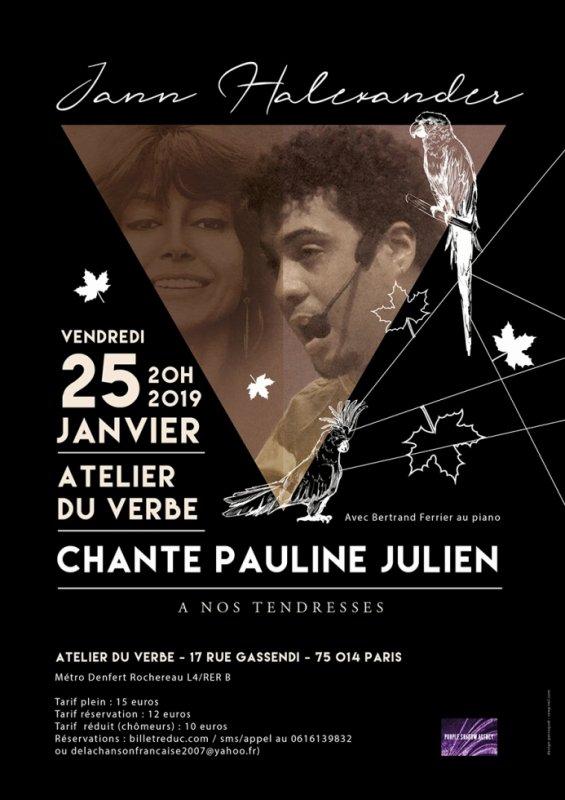 Jann Halexander chante son amour pour Pauline Julien le 25 janvier