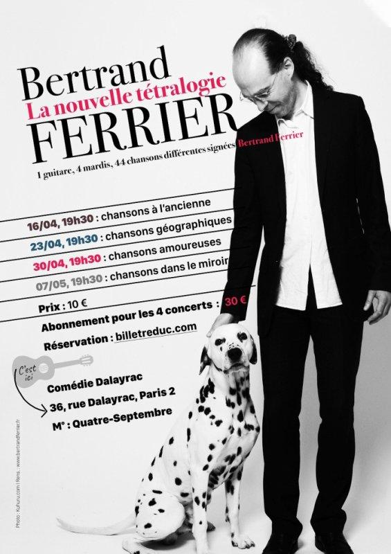 Bertrand Ferrier chante tous les mardis à la Comédie Dalayrac