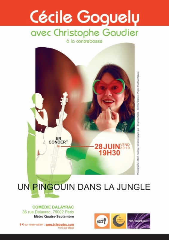 Cécile Goguely à la Comédie Dalayrac le 28 juin