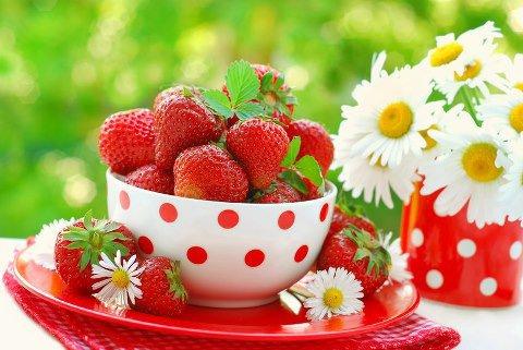 de jolies fraises pour une journée de mois de Mai :-)