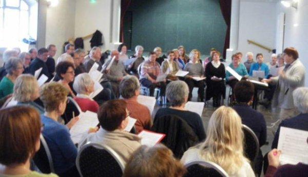 Indre-et-Loire  - La ville-aux-dames Près de 100 choristes préparent Rétina