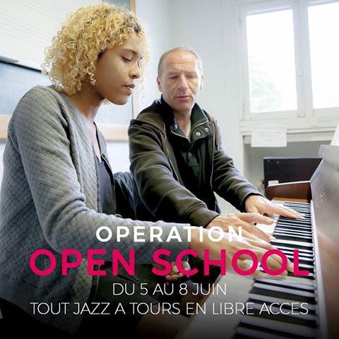 Du lundi 5 au jeudi 8 juin 2017 OPEN SCHOOL Tout Jazz à Tours en libre accès