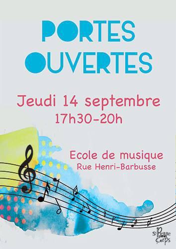 Saint-Pierre-des-Corps 22 min ·  Jeudi 14 septembre de 17h30 à 20h, portes-ouvertes de l'école de musique, rue Henri-Barbusse.