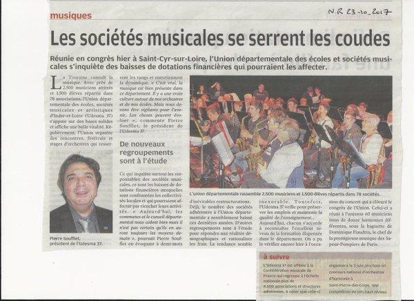 Congrès UDESMA 37 du 22 octobre 2017 à St Cyr sur Loire a l'escale