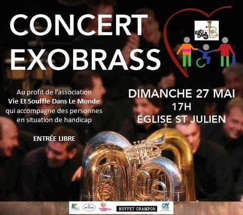 Concert EXO BRASS 27 MAI Public · Organisé par Brass Band   Exo Brass  Basilique Saint-Julien