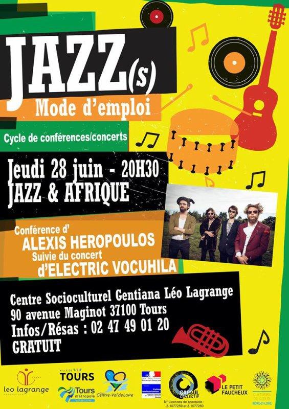 Centre Socioculturel Léo Lagrange GentianaConférence- Concert : Le Jazz et l'Afrique
