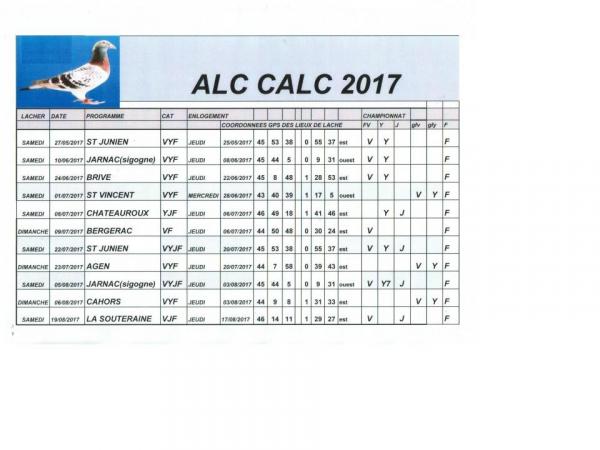 PROGRAMME ALC CALC 2017