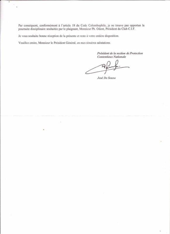 SUITE DE CONTRÔLE DOPAGE