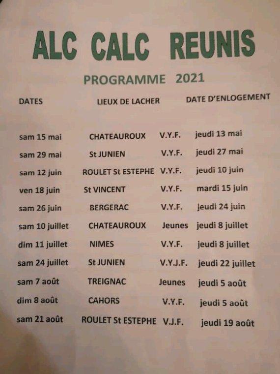 PROGRAMME ALC CALC 2021
