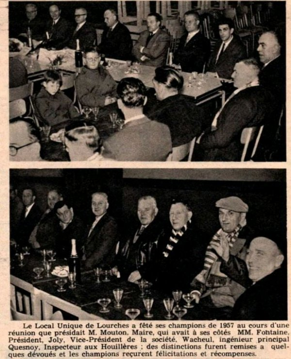 SOUVENIRS DU LOCAL UNIQUE DE LOURCHES DE L'ANNEE 1957