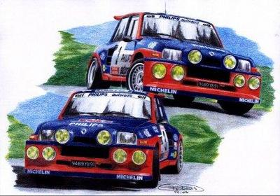 Dessin de la renault 5 turbo ing renault f1 team - Dessin renault ...
