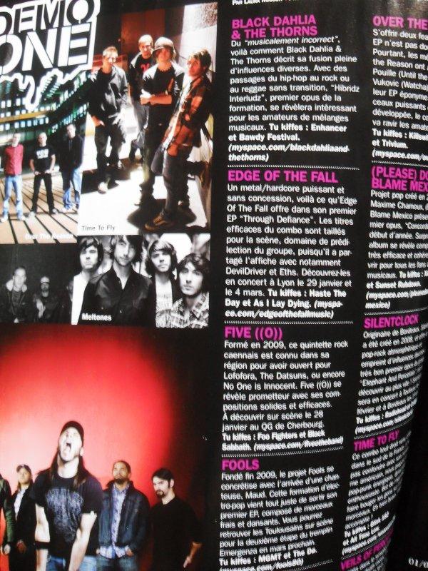 Time to Fly sur le ROCK ONE 73 de février PAGE 38 !! =)