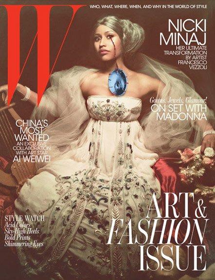 Nicki Minaj sur la couverture du magazine « W »