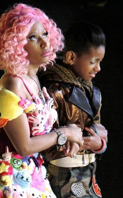 Nicki Minaj et Willow Smith : en plein tournage du clip de leur duo « Fireball »