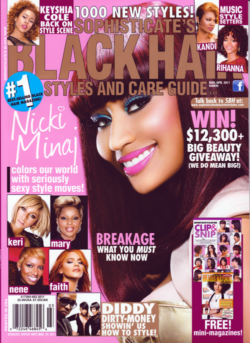 Nicki Minaj Covers Black Hair Magazine