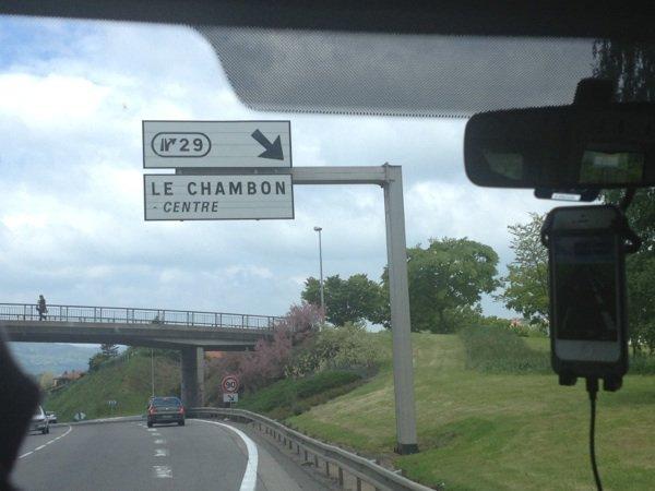 Arrivée à Chambon