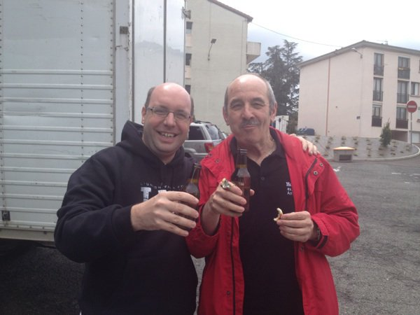 1ère bière partagée par Roland et Thierry