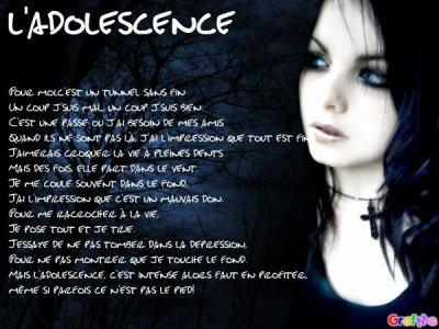 De l'adolescence rêve l'adolescent