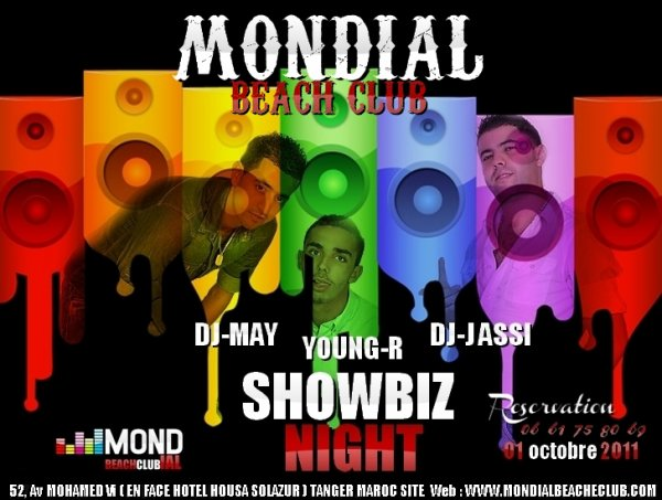 MONDIAL beach club  SHOWBIZ NIGHT