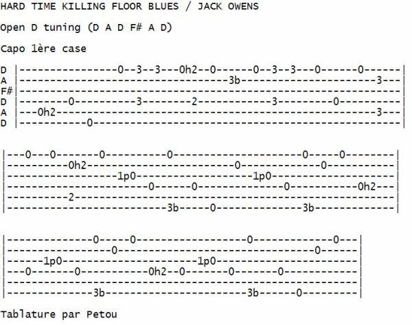 HARD TIME KILLING FLOOR BLUES / JACK OWENS