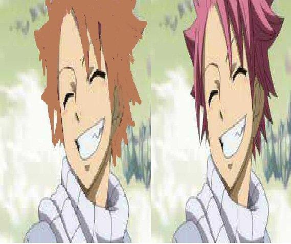 Rose? Mais pourquoi Natsu a les cheveux roses.