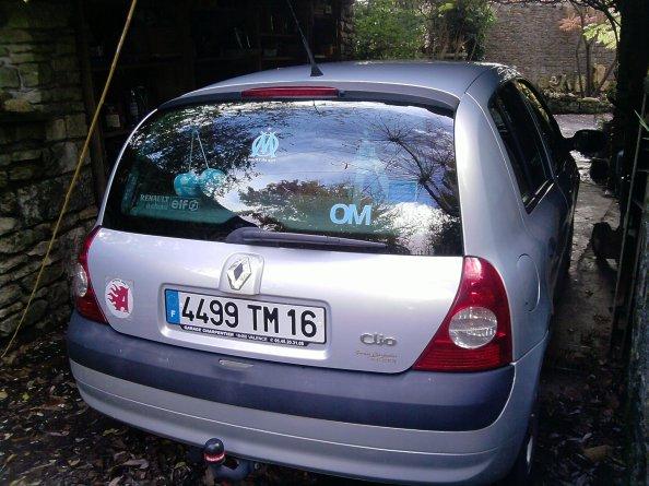 l'arrière de ma voiture