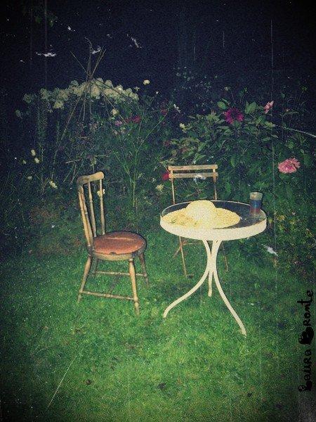 Ce jardin , me faisait penser au jardin d'alice in wonderland